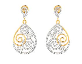 Women earrings 3dm render detail jewel sterling