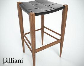 3D Billiani Vincent VG stool 445 teak