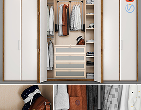 Wardrobe with Clothes character 3D