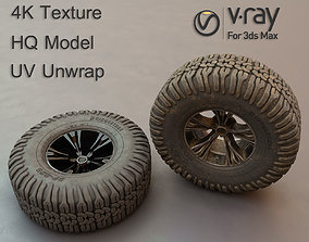 Off-road tire and wheel 3D hq