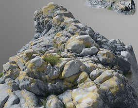 3d scanned stone cliff 001