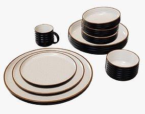 Dinnerware set 01 bowl mug platter dinner salad 3D model