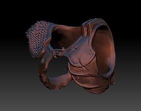 3D print model predator 2 inspired chest armour