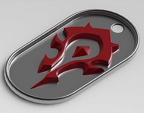 World Of Warcraft Horde Tag 3D printable model