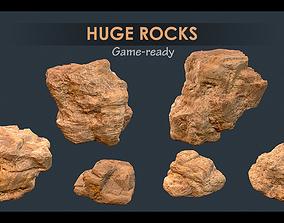 3D model Game-ready huge rocks pack