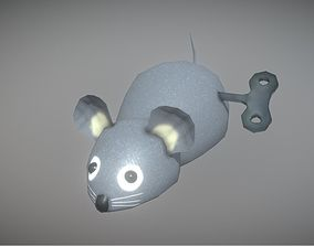 3D model Low Poly Mouse Toy With Winding Animation PBR