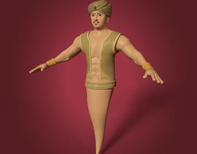 Cartoon Djinn - The Genie of the Lamp 3D model