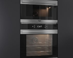 Oven FI7 891 - Microwave MP 796 by Hotpoint 3D model 1