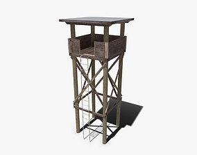 Watch Tower 3D model low-poly