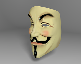 3D asset V for Vengeance and Anonymous mask