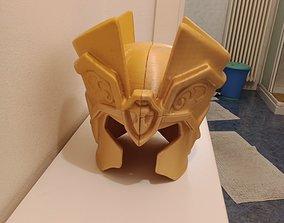 GEMINI HELMET 3D PRINTED GOLD MITH CLOTH