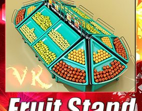 Fruit Stand Store Display 3D