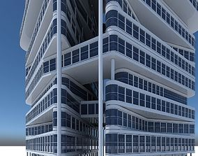 3D Office Building Tower 1