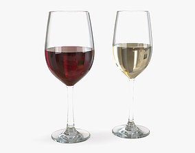 Wine Glass food 3D