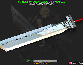 3D printable model Fusion Sword Cloud - Final Fantasy 1