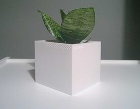 3D print model 003f - Planter - Medium Cuboid -
