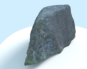 3D model Scanned Marking Stone Game-Ready