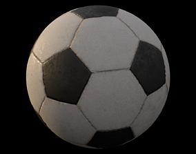 3D model game-ready Soccar ball