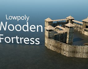 Wooden Fortress 3D model