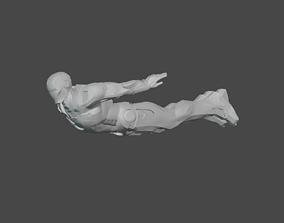 iron 3D PRINTABLE IRON MAN FLYING