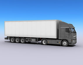3D model Big Truck With Trailer