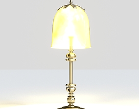 3D Antique Brass Table Lamp with Eggshell Inlaid 1