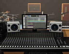 3D model Recording Studio With Music