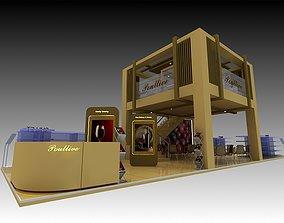 Poullive Exhibition 6x18 Booth 3D model