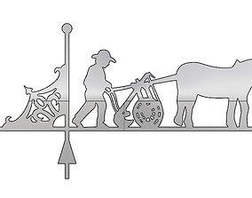Weathervane horse farm for cnc 3D print model