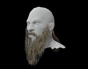 3D asset Beard low poly