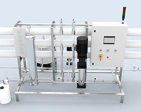 Reverse Osmosis RO Unit 3D model