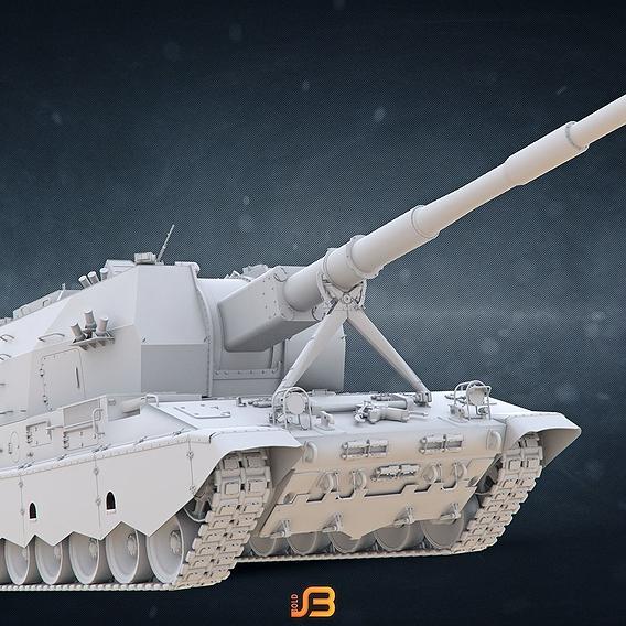 """Russian Army Self-Propelled Artillery Unit """"Koalitsiya-SV"""""""