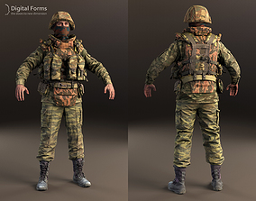 3D Russian uniform and equipment of the early 2000s