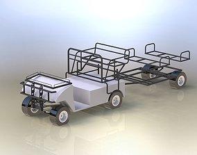 3D Basic frames of electric golf car