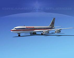 3D model Boeing 707 American Airlines 2