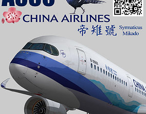 Airbus A350-900 XWB China airlines Syrmaticus 3D asset 1