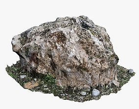 3D asset realtime Mossy Rock cliff