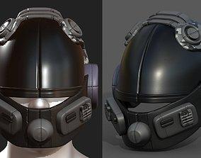 3D model Helmet scifi fantasy futuristic technology 1