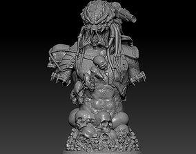 figurines Predator bust 3D model