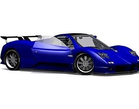 3D asset Pagani Zonda S 7-3