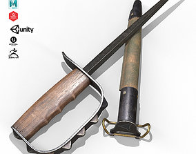 Trench knife M1917 3D asset game-ready
