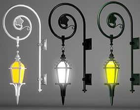 3D model A collection of Street Lamps - Set III