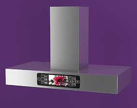Aluminum Range Hood with Touch Screen 3D
