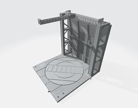 3D printable model -MHB01F- Mecha Hangar Bay Base and 3