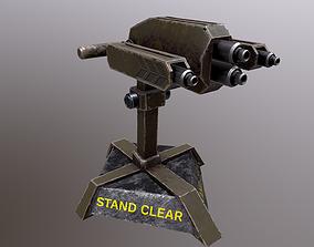 3D model animated TURRET 02