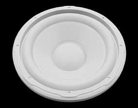 Speaker Woofer 3D Print - Blender 3d
