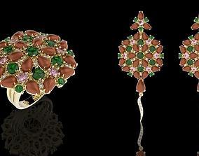 3D Set Jewel Fusion Flowers
