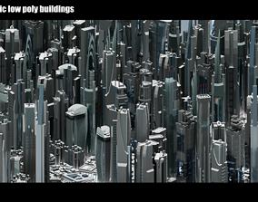 3D model 35 Futuristic Buildings VOL 1