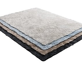 Model of carpet with a long nap in 4 colors 3D