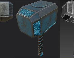 Thors hammer 3D asset